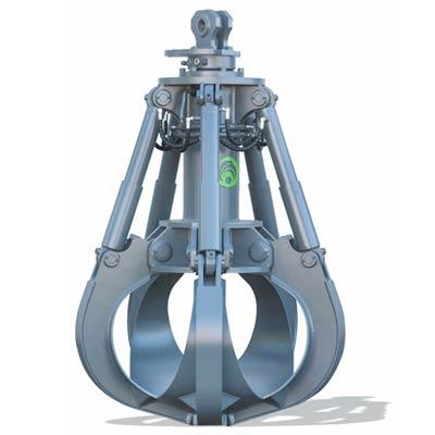 Polipo a cilindri verticali per escavatore